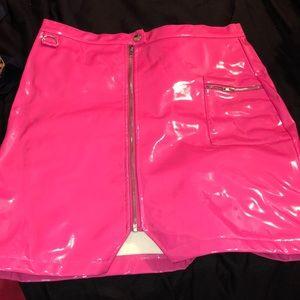 Dresses & Skirts - Pink latex skirt